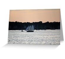 Sunset on Narragansett Bay 6 Greeting Card