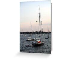 Sunset on Narragansett Bay 7 Greeting Card
