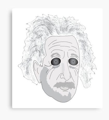 Trippy Einstein Metal Print