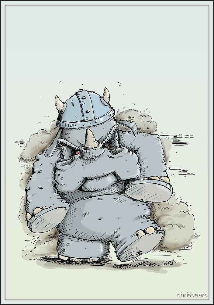 Rumblin' Rhino has a bad Day by chrisbears