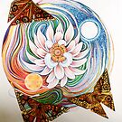 Lotus Mandala and Origami Butterflies by Jacquelyn Braxton