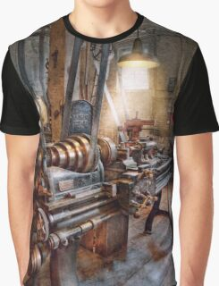 Machinist - Fire Department Lathe Graphic T-Shirt