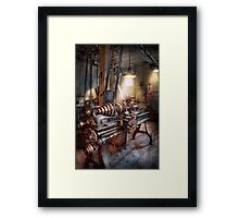 Machinist - Fire Department Lathe Framed Print