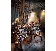 Machinist - Fire Department Lathe Photographic Print