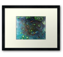 Ping Went the Pond Framed Print