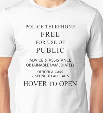 Doctor who - Police Box  Unisex T-Shirt