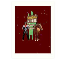 western motel Art Print