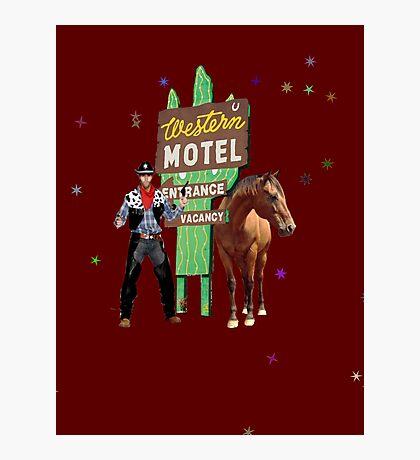 western motel Photographic Print