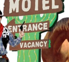 western motel Sticker