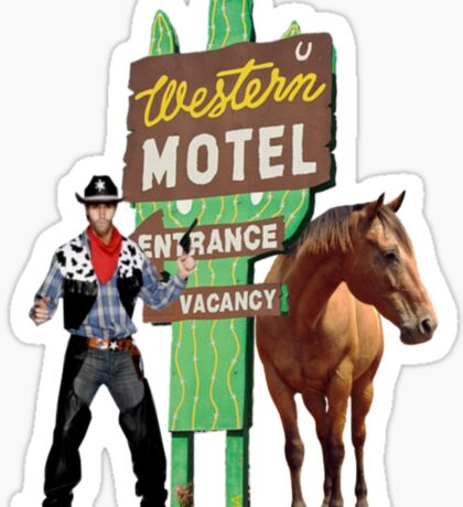western motel Sticker