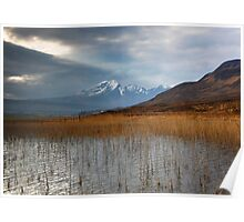 Sun rays light the way on the road to Elgol Isle of Skye Poster