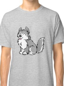 Husky Wuff Grey Classic T-Shirt