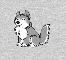 Husky Wuff Grey Unisex T-Shirt