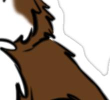 Husky Wuff Brown Sticker