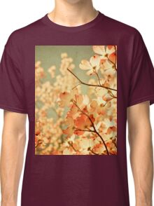 Vintage Pink Spring Flowers Classic T-Shirt