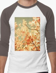 Vintage Pink Spring Flowers Men's Baseball ¾ T-Shirt
