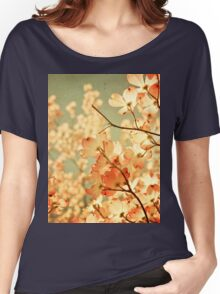Vintage Pink Spring Flowers Women's Relaxed Fit T-Shirt