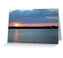 Sunset on Narragansett Bay 10 Greeting Card