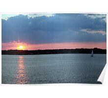 Sunset on Narragansett Bay 10 Poster
