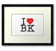 I Heart BK Framed Print