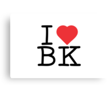 I Heart BK Canvas Print