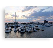 Newport Sunset Canvas Print