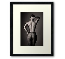 Curves and lighting Framed Print