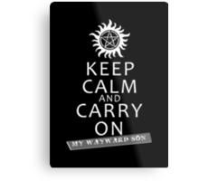 Keep Calm 2 Metal Print