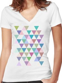 Triangle Women's Fitted V-Neck T-Shirt