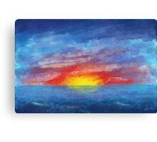 Impressionistic Sunset Canvas Print