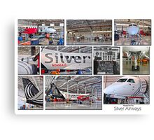 Silver Airways Photo Collage 1 Canvas Print