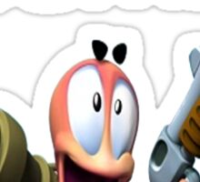 Worms Incoming Sticker