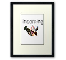 Worms Incoming Framed Print