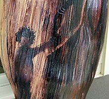 Mother & Child - Palm Frond by Cathy Gilday