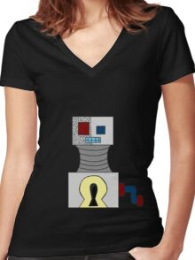 KeyRobot Women's Fitted V-Neck T-Shirt