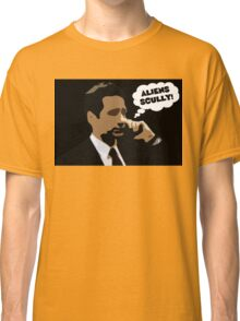 """X-Files Mulder """"Aliens Scully"""" Classic T-Shirt"""