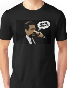 """X-Files Mulder """"Aliens Scully"""" Unisex T-Shirt"""