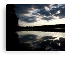 Mirror Sunset Canvas Print