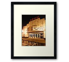 Rainy Night At The Penn Theater Framed Print