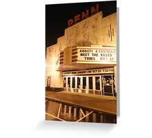 Rainy Night At The Penn Theater Greeting Card