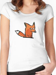 A Simple Fox for a Simple Person Women's Fitted Scoop T-Shirt