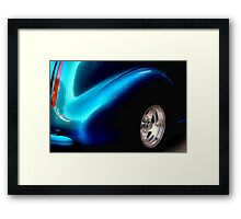 """ A Bit of Black a Bit of Blue "" Framed Print"