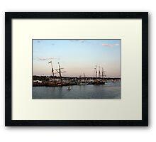 Tall Ships at Anchor Framed Print