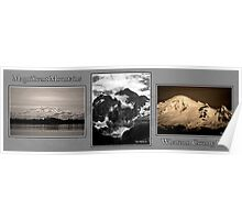 monochrome mountains of whatcom county Poster