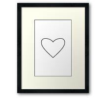 White Heart Framed Print