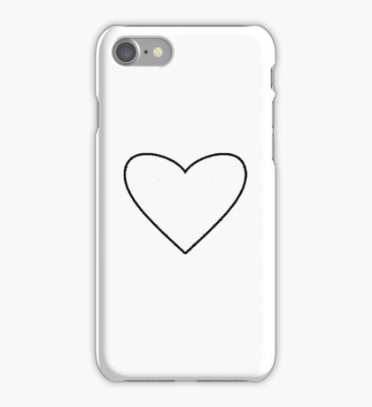 White Heart iPhone Case/Skin
