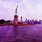 liberty Island by micheal cummins