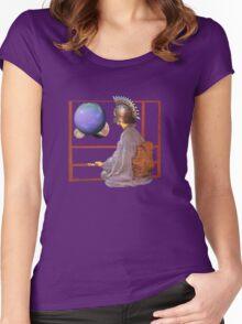 world watcher  Women's Fitted Scoop T-Shirt