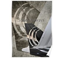 Silver Airways Tail Logo Poster