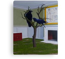 Huginn and Muninn (Thought and Memory), 2012, Oil on Linen, 91X76cm. Canvas Print